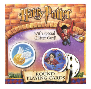 Harry Potter Round Playing Cards with Special Glitter Card