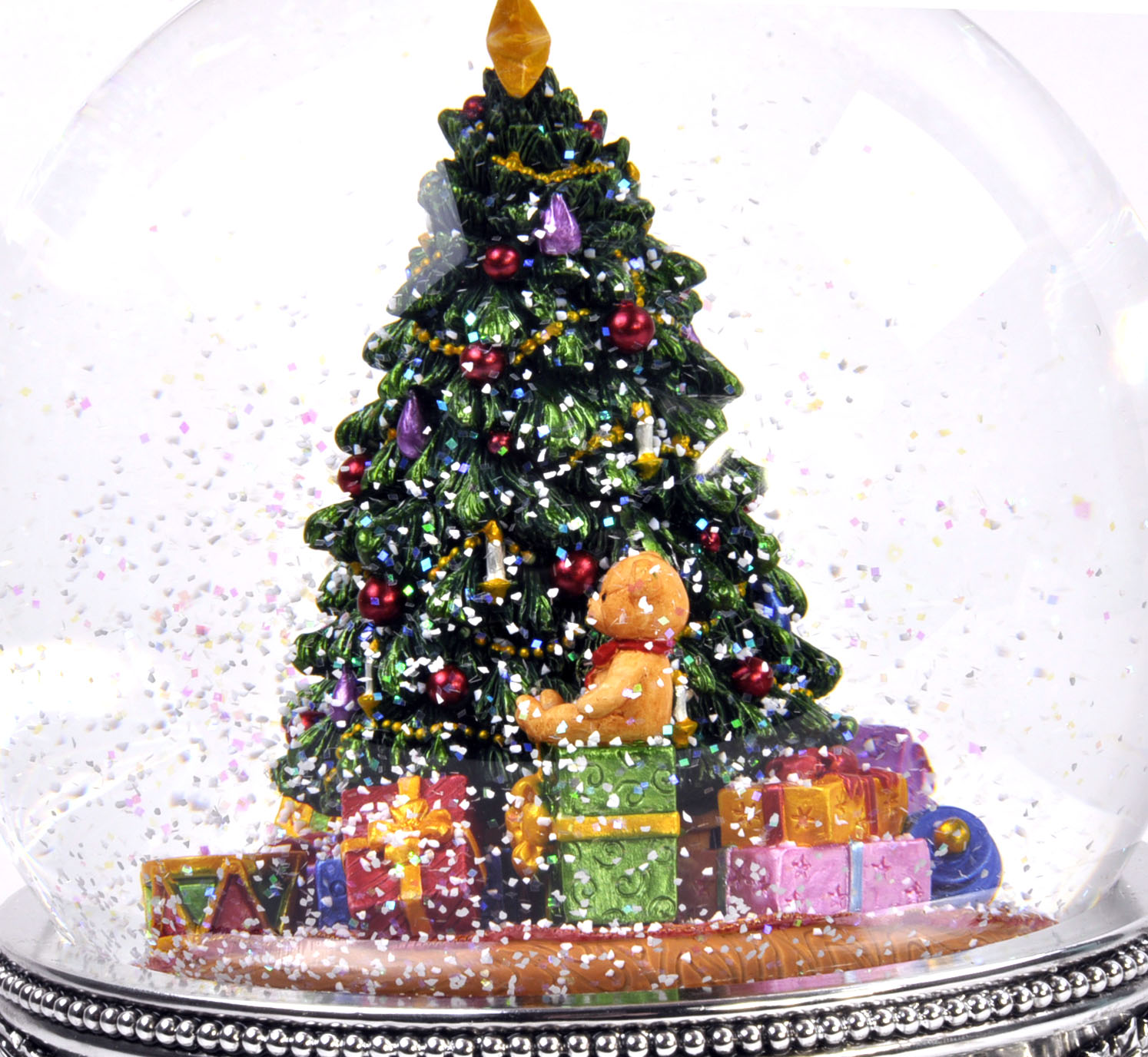 Details About Musicbox Kingdom 56055 Christmas Tree Snow Globe Music Box Plays The Melody Ta