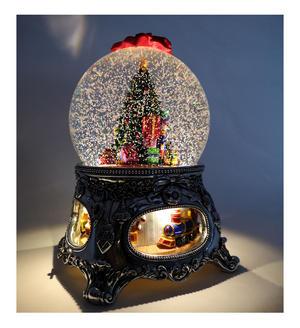 "MusicBox Kingdom 56055 Christmas Tree Snow Globe Music Box, Plays The Melody ""Tannenbaum"""