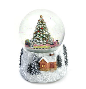 "MusicBox Kingdom 58069 Cosy Cottage Snow Globe Music Box, Plays The Melody ""Tannenbaum"" Thumbnail 5"