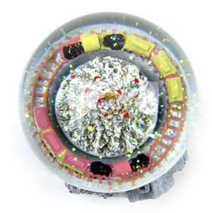 "MusicBox Kingdom 58069 Cosy Cottage Snow Globe Music Box, Plays The Melody ""Tannenbaum"" Thumbnail 7"