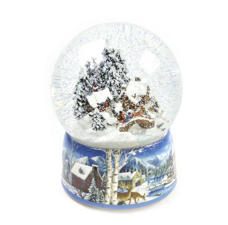 "MusicBox Kingdom 55117 Snowstorm Snow Globe Music Box, Plays The Melody ""Winter Wonderland"""