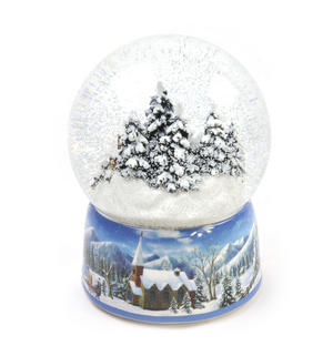 "MusicBox Kingdom 55117 Snowstorm Snow Globe Music Box, Plays The Melody ""Winter Wonderland"" Thumbnail 2"