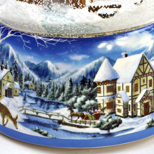 "MusicBox Kingdom 55117 Snowstorm Snow Globe Music Box, Plays The Melody ""Winter Wonderland"" Thumbnail 4"