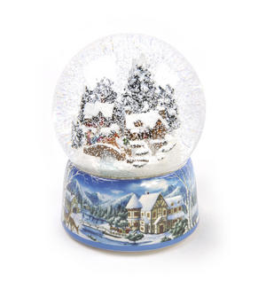 "MusicBox Kingdom 55117 Snowstorm Snow Globe Music Box, Plays The Melody ""Winter Wonderland"" Thumbnail 7"