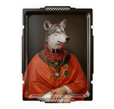 Le Loup  - Galerie De Portraits - Surreal Wall Tray Art Masterwork by iBride