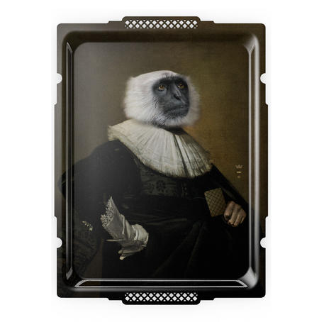Le Singe - Galerie De Portraits - Surreal Wall Tray Art Masterwork by iBride