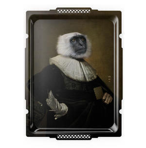 Le Singe - Galerie De Portraits - Surreal Wall Tray Art Masterwork by iBride Thumbnail 1