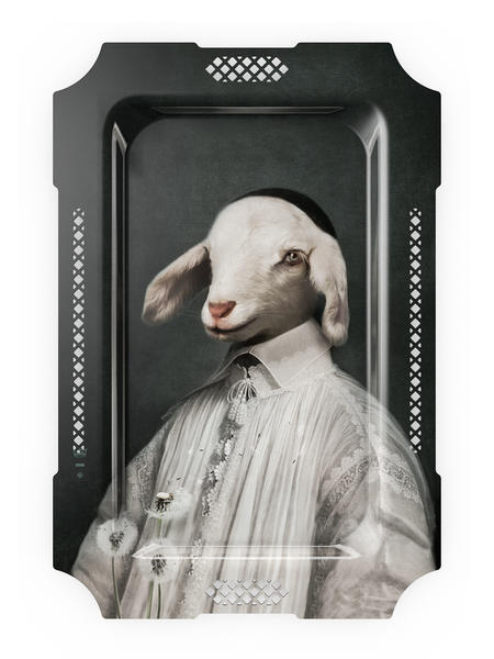 L'agneau - Galerie De Portraits - Surreal Wall Tray Art Masterwork by iBride