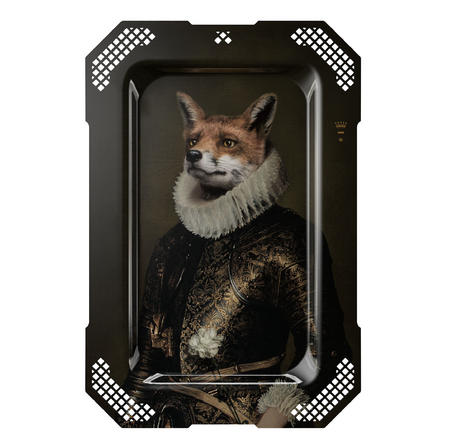 Le Renard  - Galerie De Portraits - Surreal Wall Tray Art Masterwork by iBride