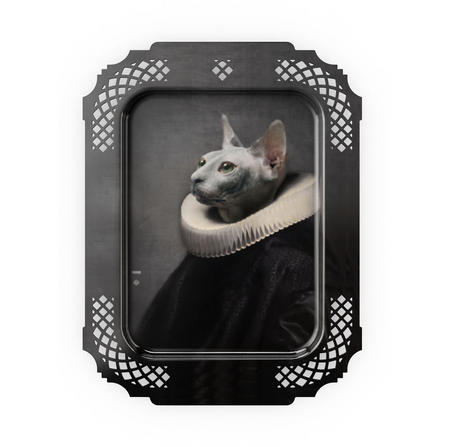 Le Chat - Galerie De Portraits - Surreal Wall Tray Art Masterwork by iBride