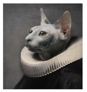 Le Chat - Galerie De Portraits - Surreal Wall Tray Art Masterwork by iBride Thumbnail 2