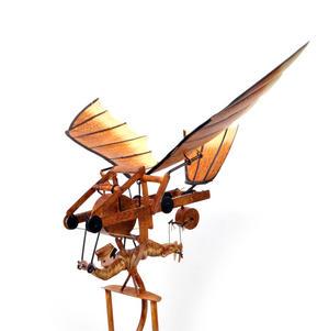 Leonardo Da Vinci Flight Pioneer - Pendulum Weighted Flying Machine Thumbnail 2