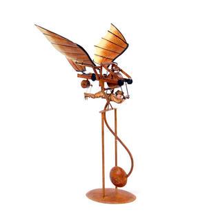Leonardo Da Vinci Flight Pioneer - Pendulum Weighted Flying Machine Thumbnail 4
