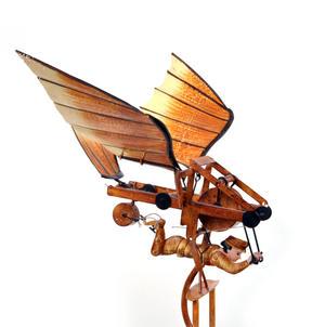 Leonardo Da Vinci Flight Pioneer - Pendulum Weighted Flying Machine Thumbnail 7