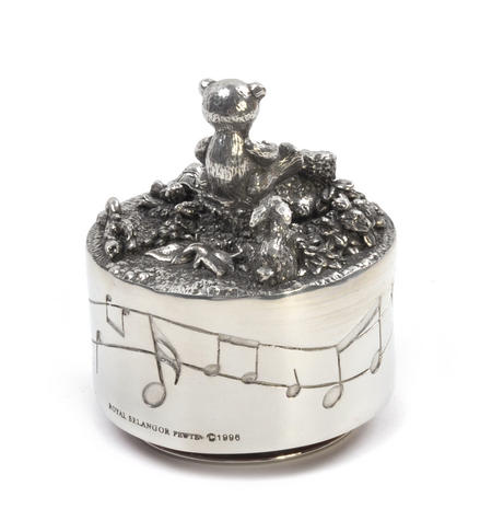 Teddy Bear Music Carousel - Pewter Musical Box by Royal Selangor