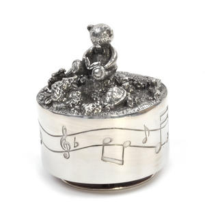 Teddy Bear Music Carousel - Pewter Musical Box by Royal Selangor Thumbnail 2