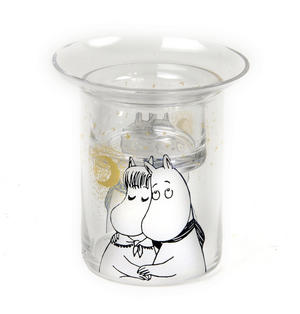 Winter Romance Glass Moomin Tea-Light Candle Essential Oil / Fragrance Burner Thumbnail 3