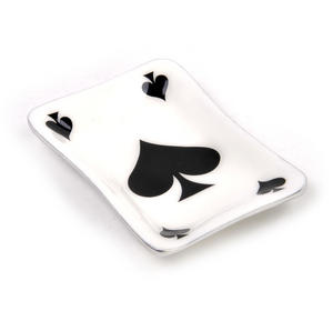 Ace of Spades Ceramic Trinket Tray