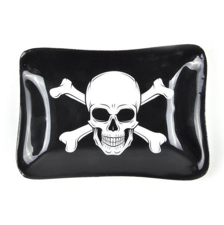 Pirate Skull and Crossbones Ceramic Trinket Tray