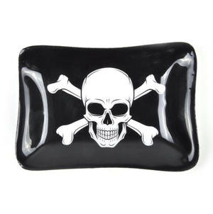 Pirate Skull and Crossbones Ceramic Trinket Tray Thumbnail 1
