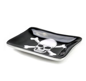 Pirate Skull and Crossbones Ceramic Trinket Tray Thumbnail 2
