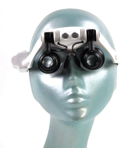 Ultimate Loup - Dual LED Lens Magnification Head Set 10x, 15x, 20x, 25x for Clock & Jewel Repairs