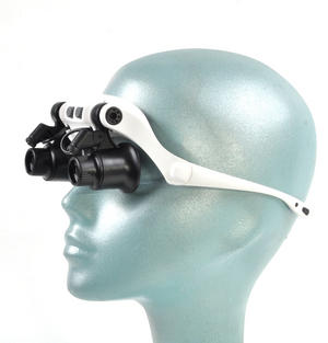 Ultimate Loup - Dual LED Lens Magnification Head Set 10x, 15x, 20x, 25x for Clock & Jewel Repairs Thumbnail 2