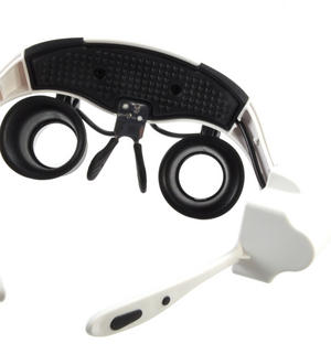 Ultimate Loup - Dual LED Lens Magnification Head Set 10x, 15x, 20x, 25x for Clock & Jewel Repairs Thumbnail 6