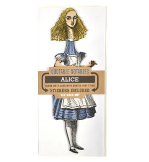Alice in Wonderland Greeting Card w/ Sticker Quotes