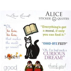 Alice in Wonderland Greeting Card w/ Sticker Quotes Thumbnail 3