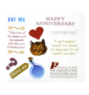 Alice in Wonderland Greeting Card w/ Sticker Quotes Thumbnail 4