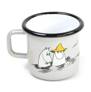 Moomin Friends - Moominpapa at Sea  - Moomin Muurla Enamel Mug - 37 cl Thumbnail 1