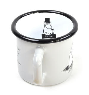 Moomin Friends - Moominpapa at Sea  - Moomin Muurla Enamel Mug - 37 cl Thumbnail 2