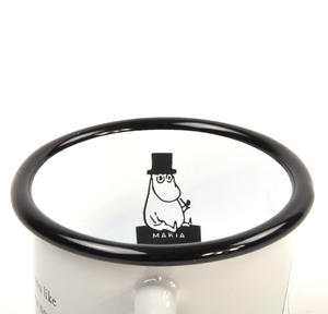 Moomin Friends - Moominpapa at Sea  - Moomin Muurla Enamel Mug - 37 cl Thumbnail 3