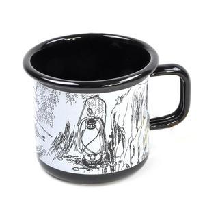 Moomintroll - Fishing - Black Moomin Muurla Enamel Mug - 37 cl Thumbnail 2