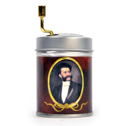 Hand Music Box - Johann Strauss - Emperor Waltz / Kaiserwalzer - Handcrank Music Box in Tin