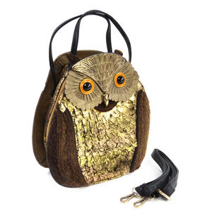 Gold & Black Owl - Deluxe Wow!!! Bag - A Creation by Red Fox Fashion