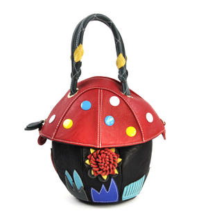Red Capped Magic Mushroom - Deluxe Wow!!! Bag - A Creation by Red Fox Fashion Thumbnail 1