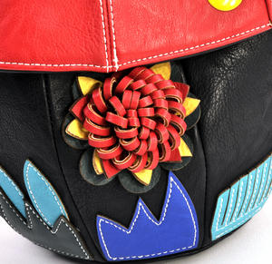 Red Capped Magic Mushroom - Deluxe Wow!!! Bag - A Creation by Red Fox Fashion Thumbnail 3