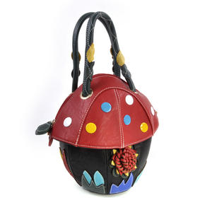 Red Capped Magic Mushroom - Deluxe Wow!!! Bag - A Creation by Red Fox Fashion Thumbnail 6