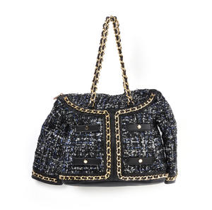 Classic Bouclé Tweed Couture Jacket - Deluxe Coco Wow!!! Bag - A Cross Body / Handbag Creation by Red Fox Fashion Thumbnail 4