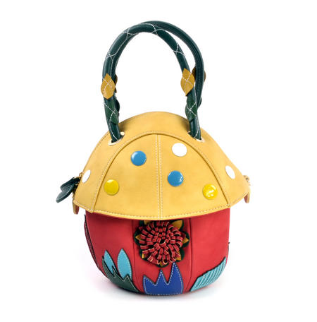 Yellow Capped Magic Mushroom - Deluxe Wow!!! Bag - A Creation by Red Fox Fashion