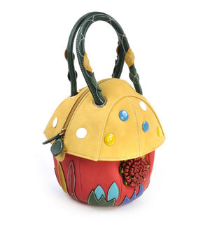 Yellow Capped Magic Mushroom - Deluxe Wow!!! Bag - A Creation by Red Fox Fashion Thumbnail 3