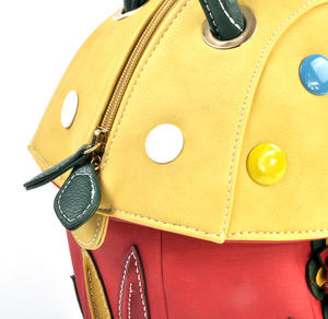 Yellow Capped Magic Mushroom - Deluxe Wow!!! Bag - A Creation by Red Fox Fashion Thumbnail 4