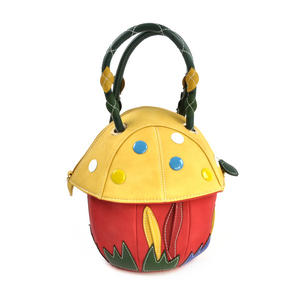 Yellow Capped Magic Mushroom - Deluxe Wow!!! Bag - A Creation by Red Fox Fashion Thumbnail 5