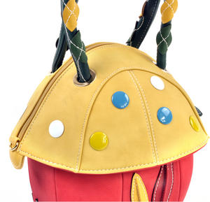 Yellow Capped Magic Mushroom - Deluxe Wow!!! Bag - A Creation by Red Fox Fashion Thumbnail 6