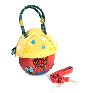 Yellow Capped Magic Mushroom - Deluxe Wow!!! Bag - A Creation by Red Fox Fashion Thumbnail 7