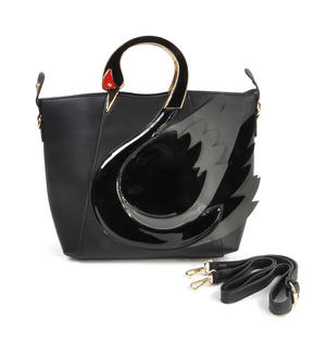 Black Swan Deluxe Wow!!! Bag - A Cross Body / Handbag Creation by Red Fox Fashion Thumbnail 1