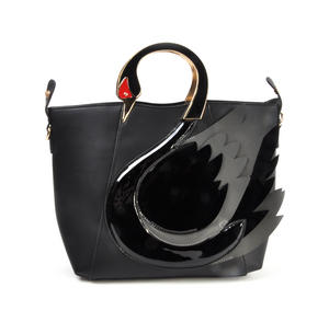 Black Swan Deluxe Wow!!! Bag - A Cross Body / Handbag Creation by Red Fox Fashion Thumbnail 7